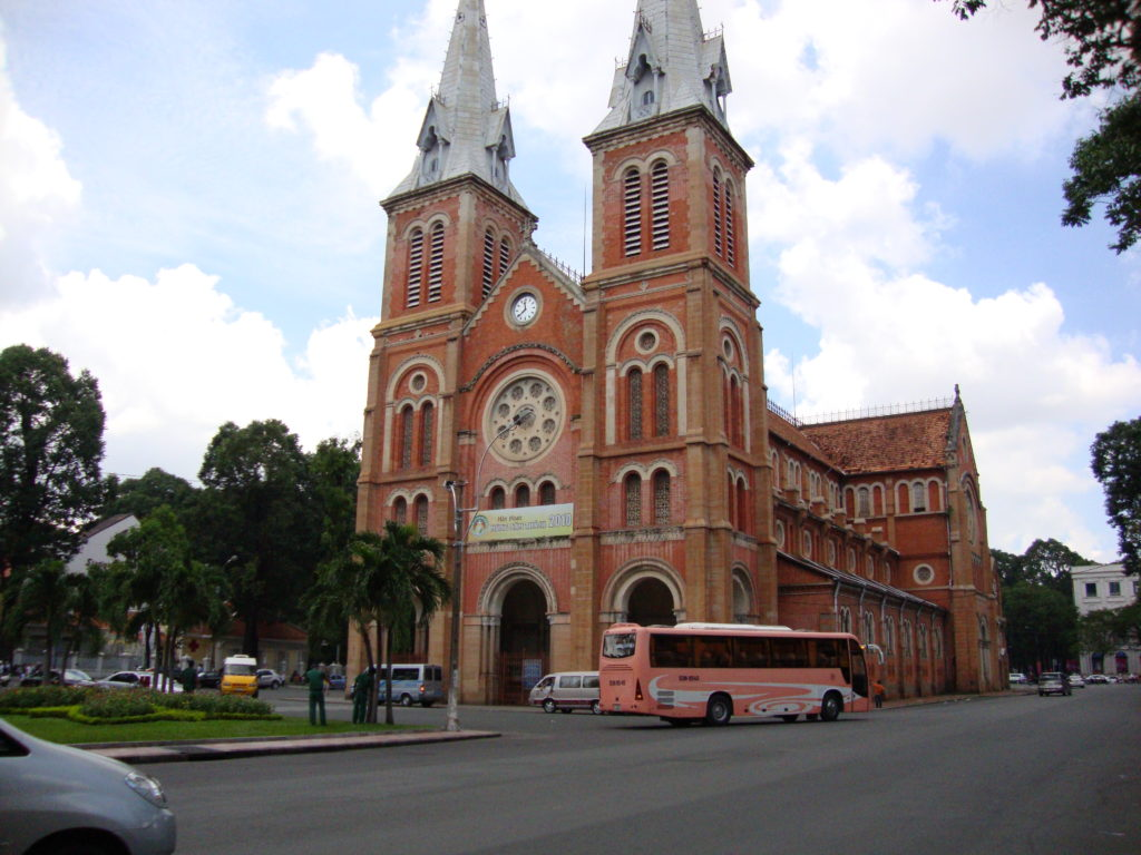 Because of the strong French influence, Ho Chi Minh is home to a smaller Notre Dame Cathedral.